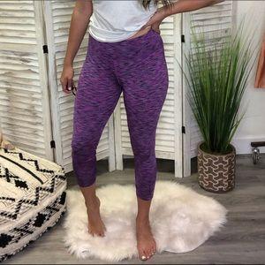 Purple Cropped Legging